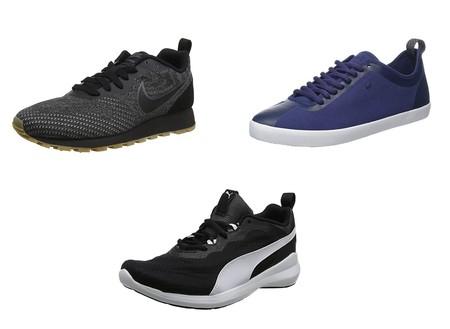 Chollos en tallas sueltas de zapatillas Nike,  Converse o Puma en Amazon