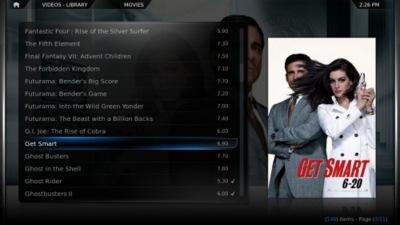 XBMC se actualiza a la versión 9.11