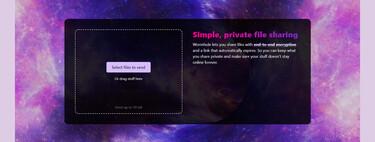 Wormhole es una forma simple, rápida, gratis y privada de compartir archivos grandes