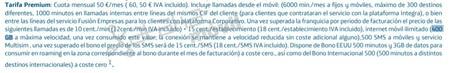 Condiciones Tarifa Premium Movistar Fusion Empresas