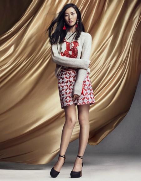 Hm Campana Ano Nuevo Chino Navidad 2015 Liu Wen Choi Siwon 5