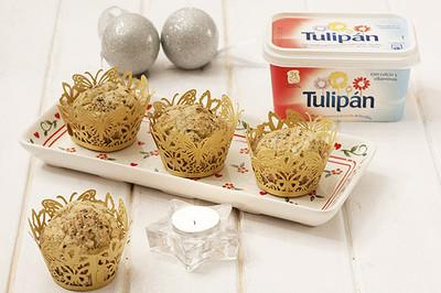 Receta de muffins salados con margarina Tulipán