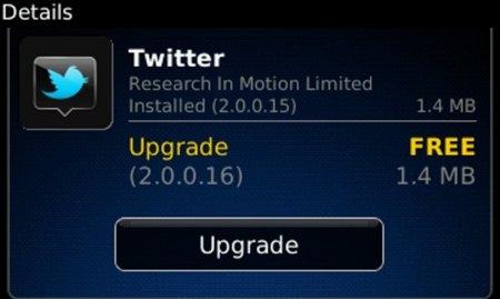 La nueva versión del cliente oficial de Twitter para BlackBerry ya está entre los mortales