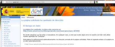 Redirección que obliga al usuario a introducir una nueva URL manualmente
