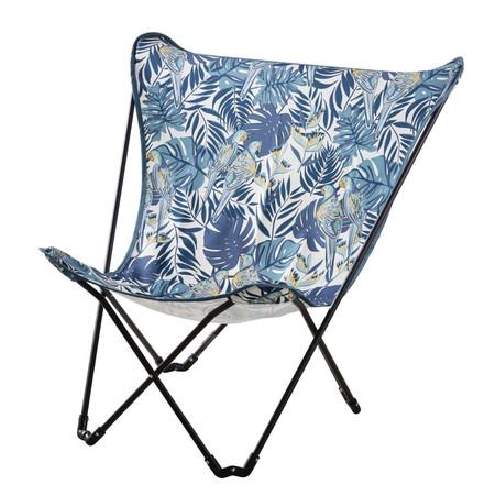 Sillon Mariposa De Jardin Plegable De Metal Negro Y Tela Azul Con Estampado 1000 16 32 199579 1