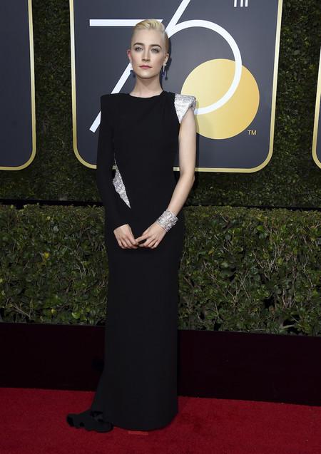 Alfombra Roja Globos De Oro 2018 Saoirse Ronan Atelier Versace