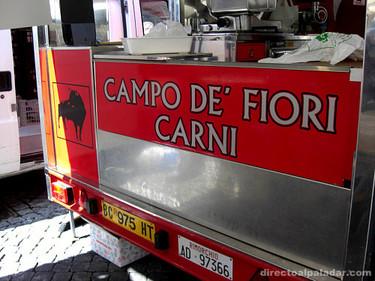 Mercados en Roma (II): Mercado Campo de' Fiori