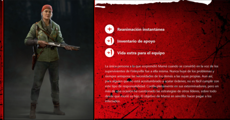 Tipos de personajes Back 4 Blood