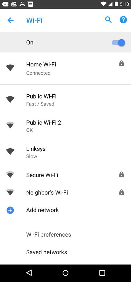 Android Oreo 8.1 velocidad Wi-Fi