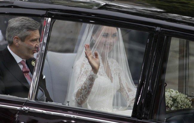 Vestido de novia de Kate Middleton inspirado en el vestido de Grace Kelly