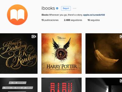 Apple lanza la cuenta oficial de iBooks en Instagram