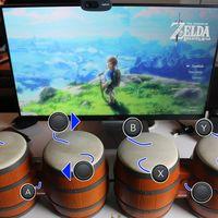 Este jugador empleando los Bongos de Donkey Konga para completar Zelda: Breath of the Wild es lo más loco que verás hoy