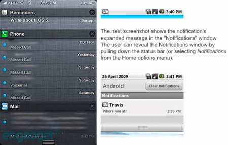 iOS 5 plagiando a Android
