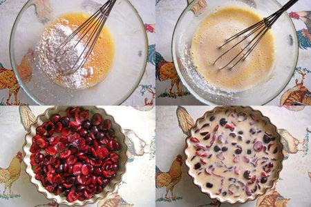 Clafoutis de cerezas sin lactosa. Pasos