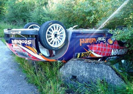 El accidente de François Duval en el Rally de Alemania