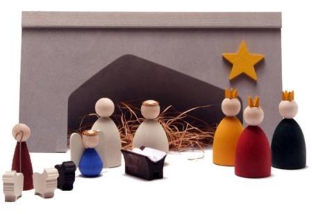 Navidad: Belén minimalista de madera