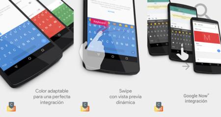 Chrooma Keyboard 3.0, el teclado que cambia de color estrena gestos, se integra con Google Now y más