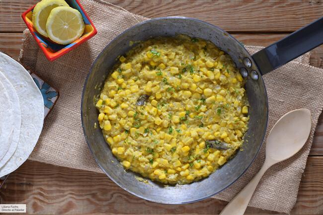 Curry de maíz cremoso
