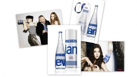 La botella Evian Prêt-à-porter de J. P. Gaultier
