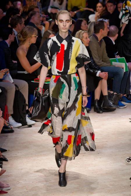 Céline Primavera-Verano 2014 vestido colores clon Zara
