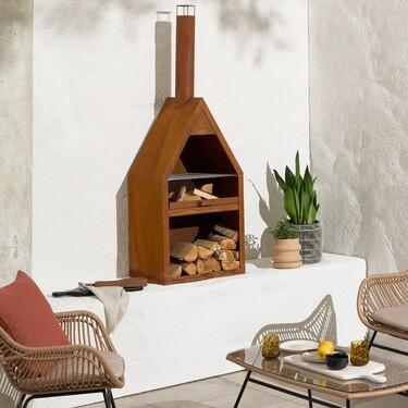 La nueva colección de MADE para exterior incluye braseros (con parrilla) y chimeneas para disfrutar de la terraza todo el año
