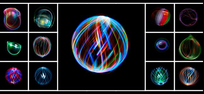Los impresionantes orbes de luz multicolor de Andrew Hall