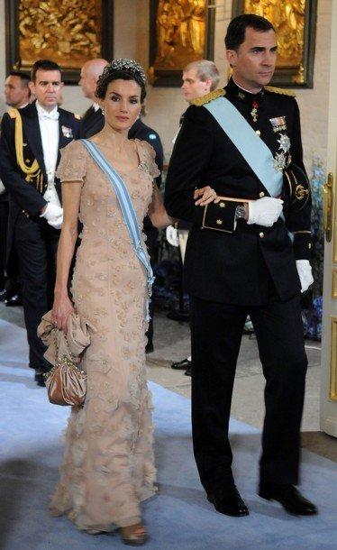 Boda de la Princesa Victoria de Suecia, ceremonia: Princesa Letizia