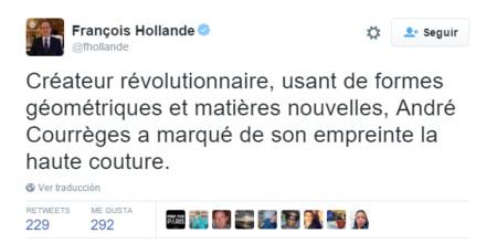 Twitter rinde homenaje al revolucionario diseñador André Courrèges con miles de tweets