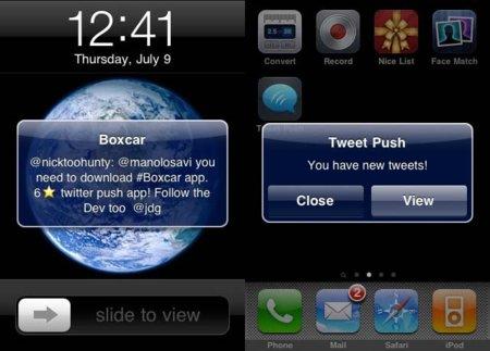 boxcar tweet push