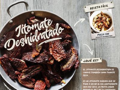 El jitomate deshidratado, qué es y cómo se usa. Infografía