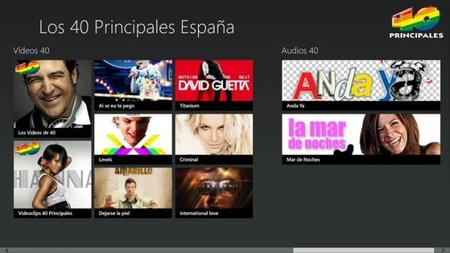 Los 40 Principales para Windows 8