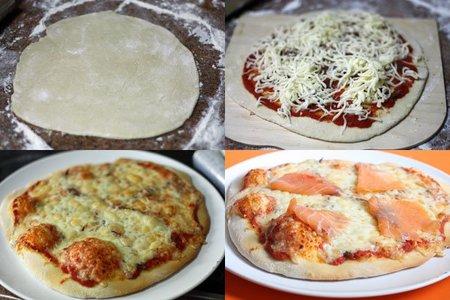 Pasos, pizza de salmón ahumado
