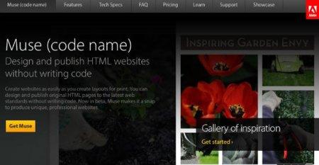 Adobe lanza Muse, herramienta para crear de páginas web sin escribir código