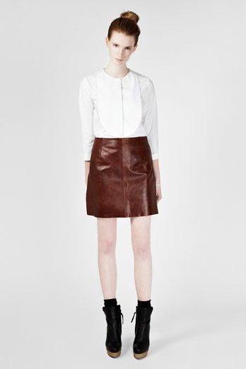 falda cuero cos