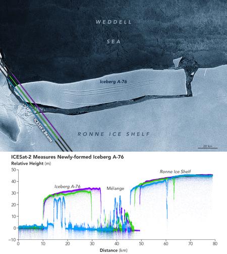 450 1000 El iceberg más grande del mundo se ha partido en tres trozos (y ya no es el iceberg más grande del mundo)