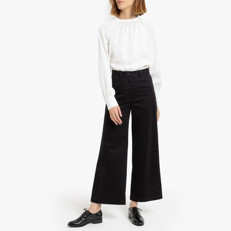 Pantalón ancho de satén