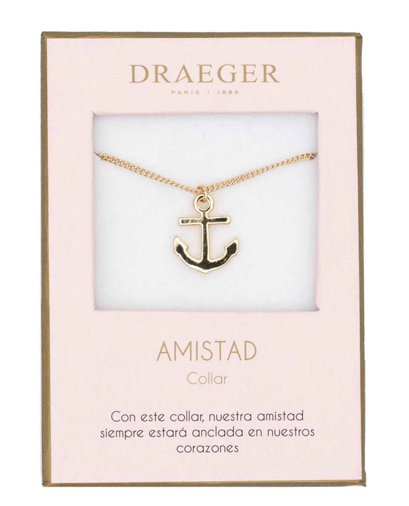 Collar Ancla Amistad sin Níquel Draeger Dorado
