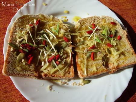 Pan integral de centeno con semillas en panificadora. Receta