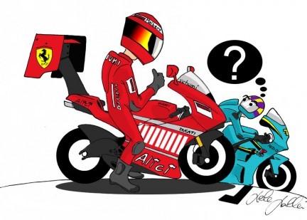 Si Michael Schumacher corriera en MotoGP...