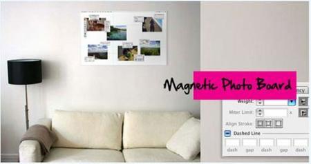 Tablero magnético inspirado en el Photoshop y el Illustrator