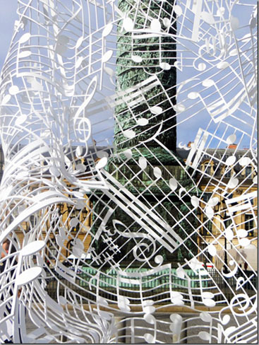 Musical Notes Sculpture by Jaume Plensa
