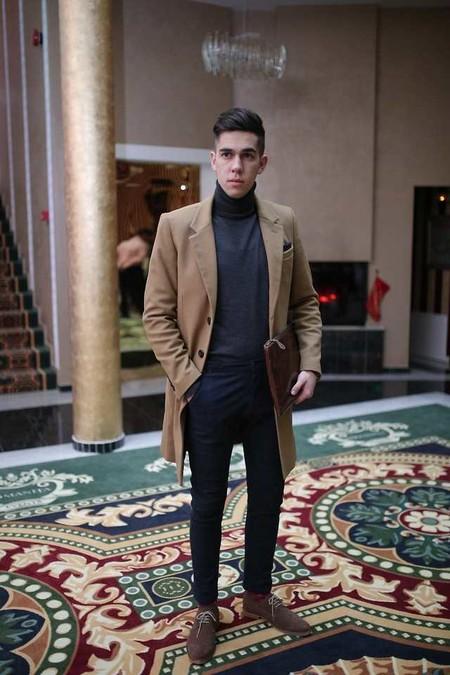 Combinacion Look Abrigo Camel Jeans Vaqueros Tendencia Trendencias Hombre Otono Invierno 2018 01