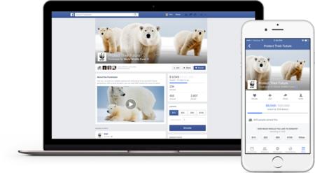 Facebook presenta páginas para recaudar fondos en organizaciones sin ánimo de lucro