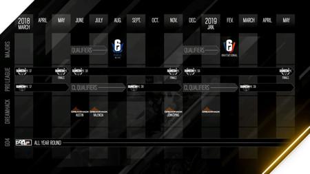 Rainbow Six Esports Calendar Schedule 2019