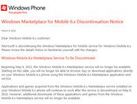 Windows Marketplace para Mobile 6.x cerrará sus puertas el 9 de mayo