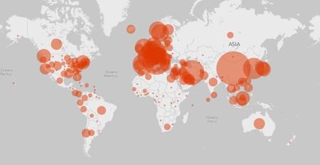 Este mapa de Microsoft muestra el avance en México del COVID-19 en tiempo (casi) real