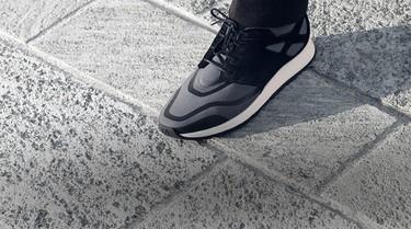 La sneaker en ante negro y lana Techmerino de Z Zegna