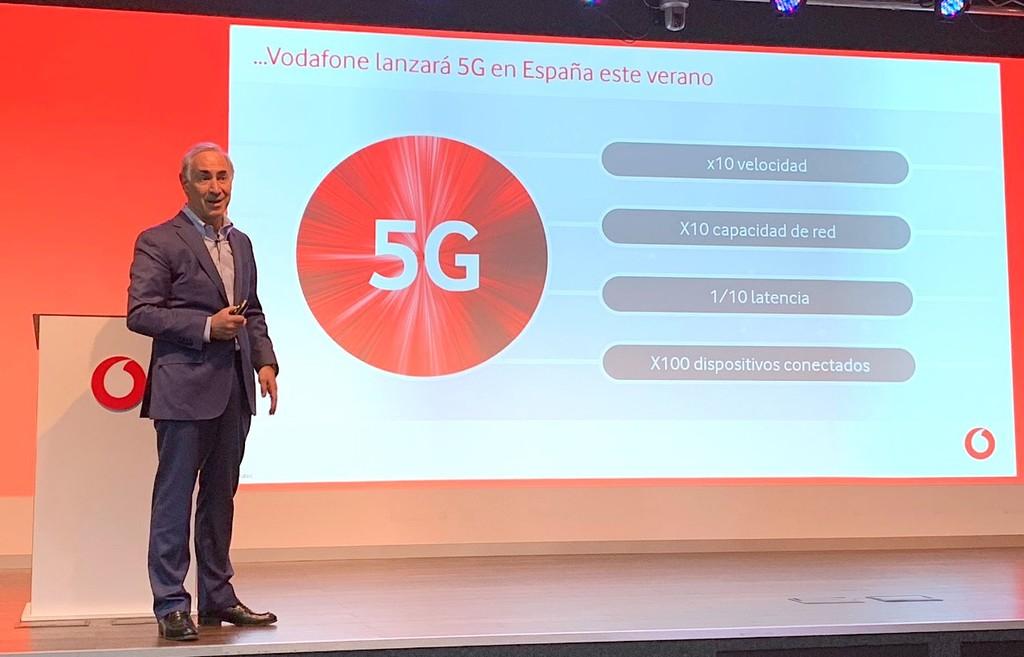 El 5G comercial de Vodafone llegará este verano a las principales ciudades de España