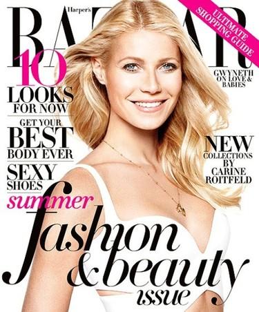 Gwyneth Paltrow o como sonreir hasta el infinito para Harper's Bazaar