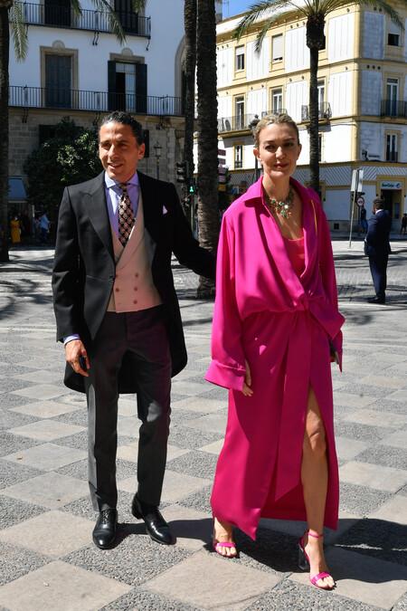 marta ortega en la boda de Carlos Cortina y Carla Vega-Penichet